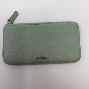 Fossil Pebbled Wallet, Snap Closure